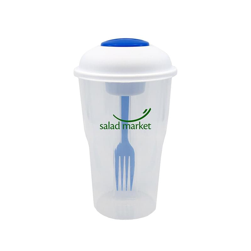 Salad Shaker Container with Fork and Dressing Container