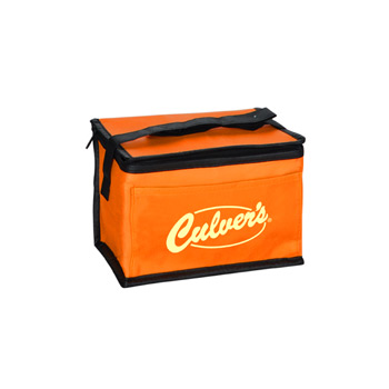 "8""w x 6""d x 5.5""h with 20"" handle 6 Pack Cooler"
