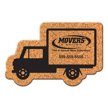 Box Truck Cork Coaster