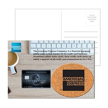 Post Card with Oval Cork Coaster